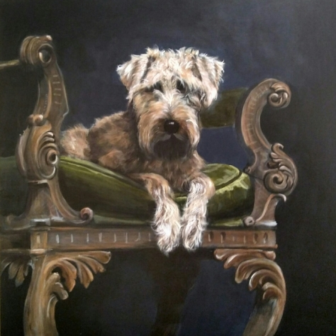 Canes Regular Dogs Rule acrylic on board 70cms x 69cms £550.-